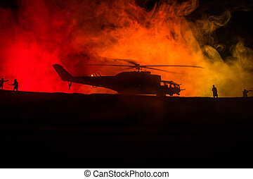 フィート数, 対立, 準備ができた, backlit., 軍, 強くされた, 精選する, ヘリコプター, 始める, 焦点を合わせなさい。, zone., 飾られる, 砂漠, シルエット, 霧が濃い, 夜, ハエ
