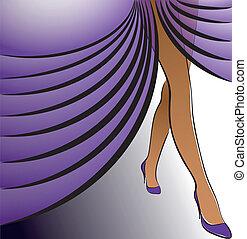 フィート, 女性, 紫色