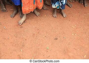フィート, 子供, アフリカ