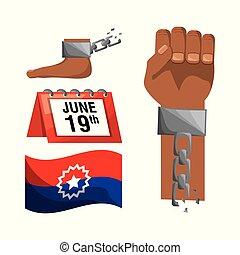 フィート, 旗, カレンダー, 鎖, 手