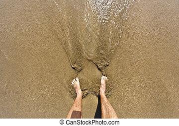 フィート, 浜, 人