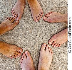 フィート, 浜, 家族