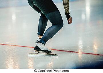 フィート, 運動選手, スピードスケーター