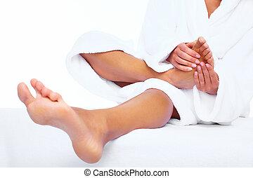 フィート, massage.