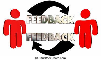 フィードバック, 人々の話すこと, 共有, 意見, comments, 3d, イラスト