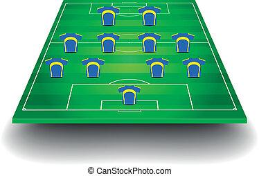 フィールド, サッカー, 形成, チーム
