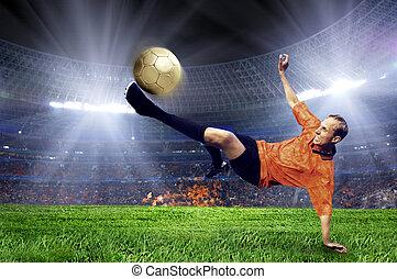 フィールド, フットボール, 競技場, プレーヤー