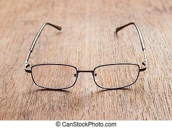 フィールド, 深さ, 浅い, 読書, glasses.