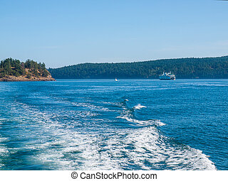 フェリー ボート, 中に, ∥, puget 音, 中に, ワシントン州, アメリカ