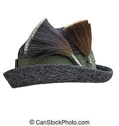 """フェルト, 帽子, """"gamsbarts"""", 2, 隔離された, 伝統的である"""