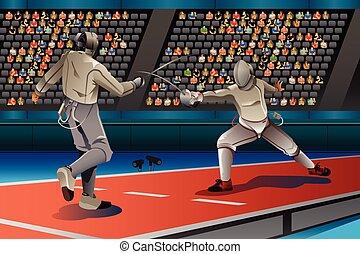 フェンシング, 男性, 2, 競争