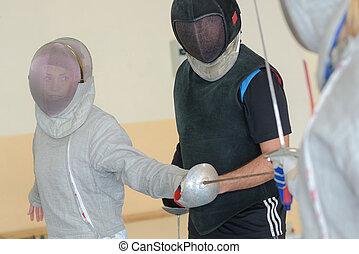 フェンシング, 練習する, 人々