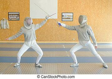 フェンシング, 2人の人々