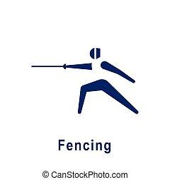 フェンシング, icon., スポーツ, pictogram, 新しい