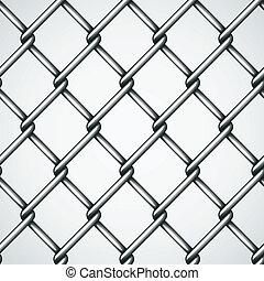 フェンス, ベクトル, ワイヤー, 背景, seamless
