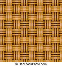 フェンス, 枝編み細工, 柵, seamless, 背景, 編まれる
