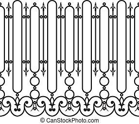 フェンス, 細工された鉄, seamless