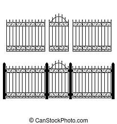 フェンス, 門, ベクトル