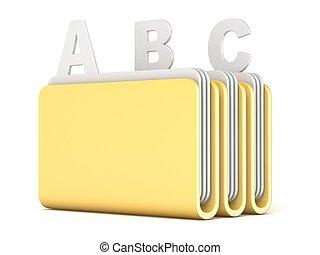フォルダー, ファイル, abc, 3, コンピュータ, 3d