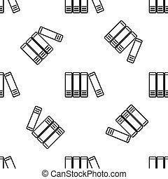 フォルダー, 平ら, 文書, オフィス, パターン, 印。, 白, seamless, イラスト, バックグラウンド。, ベクトル, アーカイブ, ペーパー, フォルダー, アイコン, 線, design.