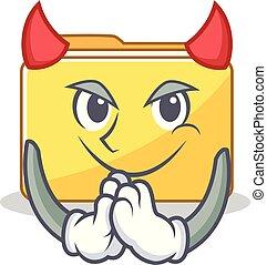 フォルダー, 悪魔, 特徴, 漫画, スタイル