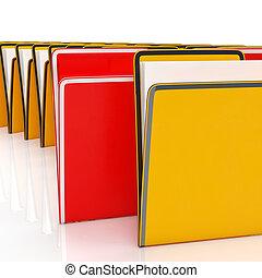 フォルダー, 情報, 提示, 報告, 組織化する, ファイリング