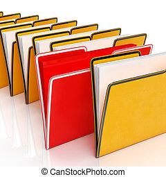 フォルダー, 文書, 提示, 報告, 組織化する, ファイリング
