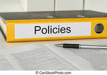 フォルダー, policies, ラベル