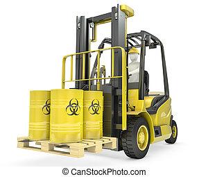 フォーク, 樽, リフト, biohazard, トラック