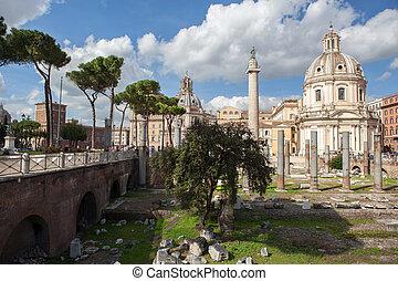 フォーラム, コラム, 台なし, ローマ人, ローマ, trajan's