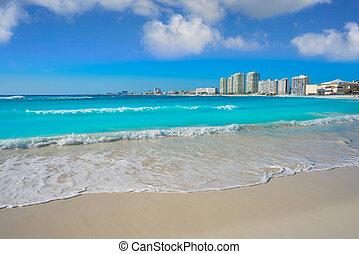 フォーラム, gaviota, azul, playa, 浜, cancun