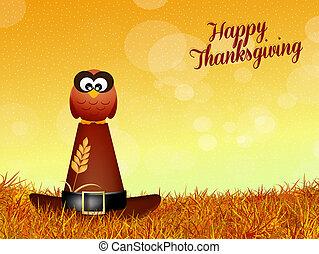 フクロウ, ∥ために∥, 感謝祭, 日