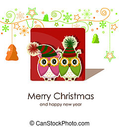 フクロウ, クリスマスカード