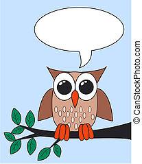 フクロウ, メッセージ