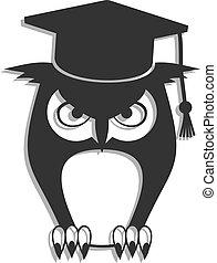 フクロウ, 学生, アイコン
