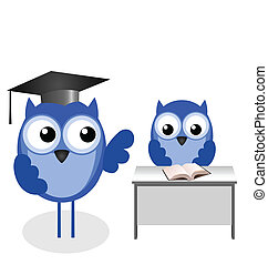 フクロウ, 教師, そして, 生徒