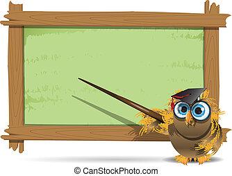 フクロウ, 教師