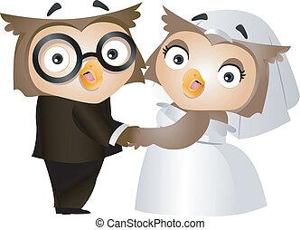 フクロウ, 結婚式