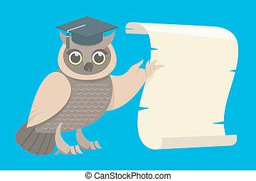 フクロウ, 賢い, スクロール