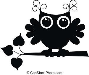 フクロウ, 黒