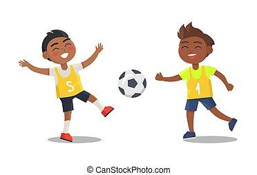 フットボールの ユニフォーム, 男の子, indian, スポーツ, 遊び