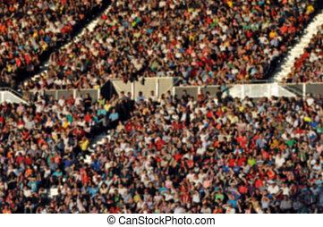 フットボールマッチ, 群集, 人々