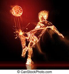 フットボール選手, 燃焼
