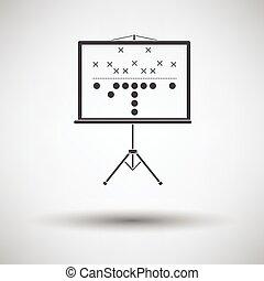 フットボール, アメリカ人, ゲーム, 立ちなさい, 計画, アイコン