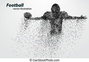 フットボール, シルエット, rugby., particle., プレーヤー, アメリカの footballer