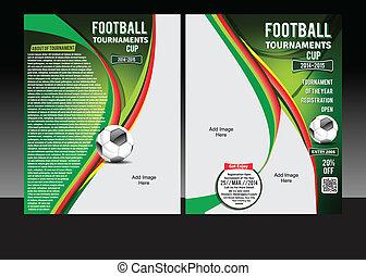 フットボール, トーナメント, フライヤ, カップ