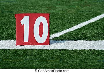 フットボール, マーカー, 10, 庭