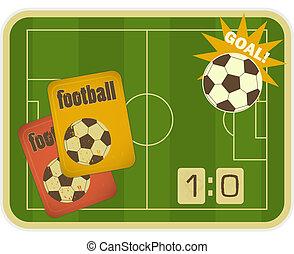フットボール, レトロ, カード
