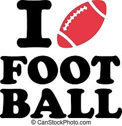 フットボール, 愛, ボール