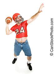 フットボール, 投げる